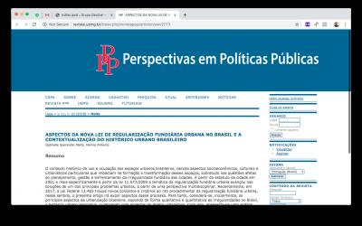 ADVOGADA DA GEOLINE ENGENHARIA TEM SEU ARTIGO PUBLICADO NA REVISTA PERSPECTIVAS EM POLÍTICAS PÚBLICAS DA UEMG