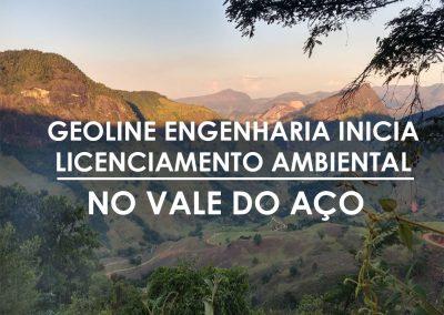 GEOLINE ENGENHARIA INICIA LICENCIAMENTO AMBIENTAL NO VALE DO AÇO
